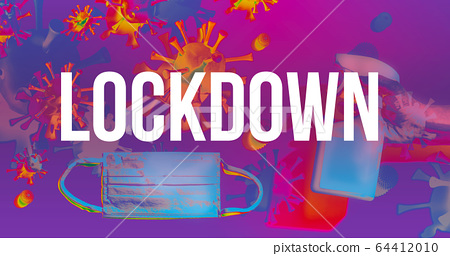 Lockdown theme with face mask and spray bottle 64412010