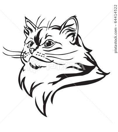 Decorative portrait of Cat 10 64414522