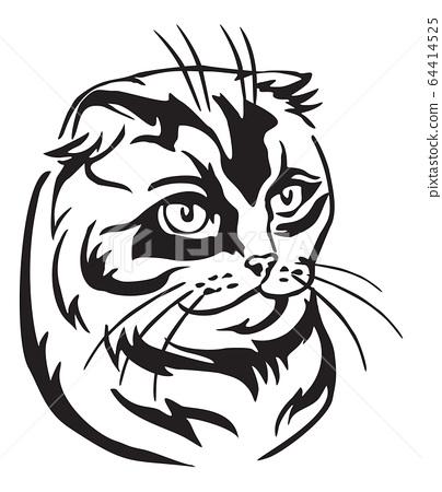 Decorative portrait of Cat 9 64414525
