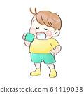 漱口的孩子(夏天的衣服) 64419028