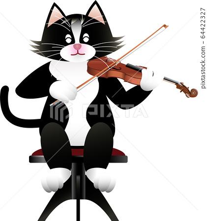 고양이와 바이올린 64422327