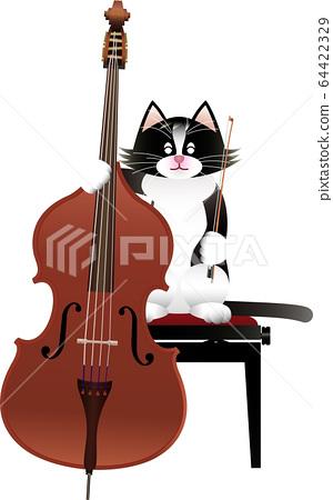 貓和低音提琴 64422329