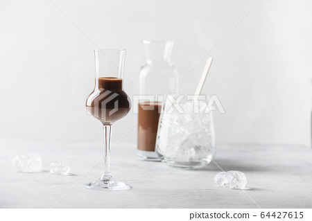 Sweet chocolate liqueur 64427615
