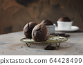 Sweet muffins with chocolate 64428499