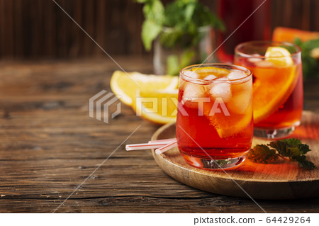 Glasses of a cocktail 64429264