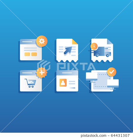 Icon for ecommerce online shopping 64431307