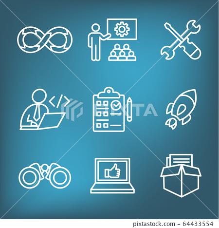 Development Operations & Life Cycle - DevOps Icon 64433554