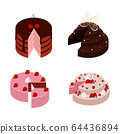 Isometric cakes set 64436894