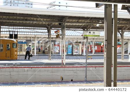 오카야마 역 홈에서 64440172