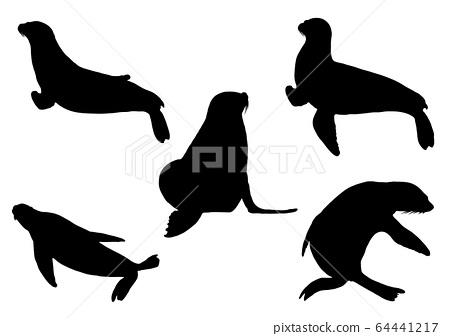 動物silhouette_set 1 64441217