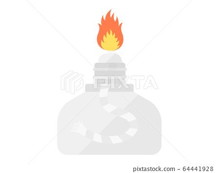 Illustration of alcohol lamp 64441928