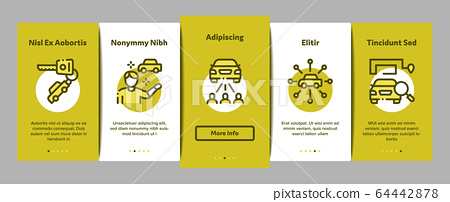 Car Sharing Business Onboarding Elements Icons Set Vector 64442878
