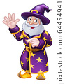 Pointing Wizard Cartoon Character 64454941