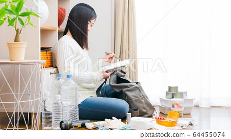 婦女焦慮筆記本清單複制空間16:9 64455074