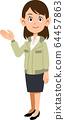 一个女人穿着工作服指导 64457863