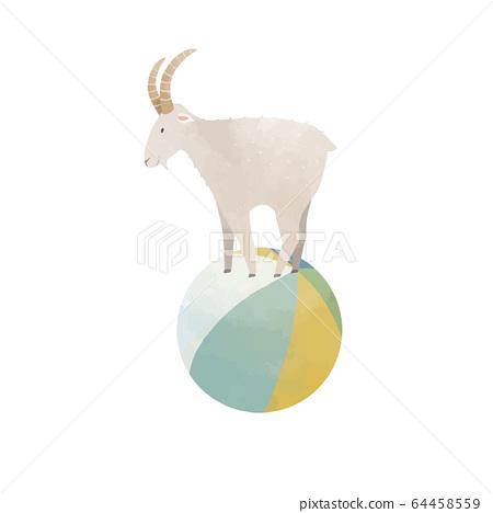 Beautiful vector Capricorn horoscope zodiac sign. Stock illustration. 64458559
