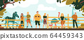 Zoo Workers Background 64459343