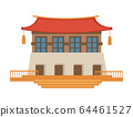 Asian architecture, Chinese or Japanese temple, tourist landmark 64461527