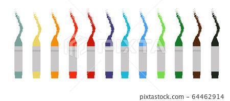 Set of wax crayons Vector Illustration 64462914