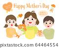 母親節媽媽和孩子們01橙色 64464554