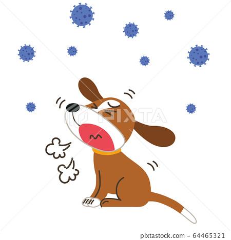 咳嗽生病的寵物 64465321