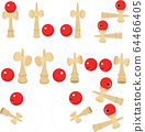 Illustration material Kendama Kendama toy toy pop vector New Year's card material 64466405
