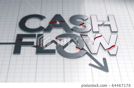 Cash flow problems in a business during crisis. 64467178