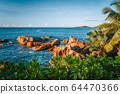 La Digue island holiday landscape. Exotic paradise nature beach of Seychelles 64470366
