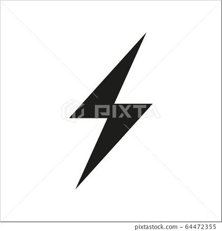 Flash icon symbol simple design on white 64472355