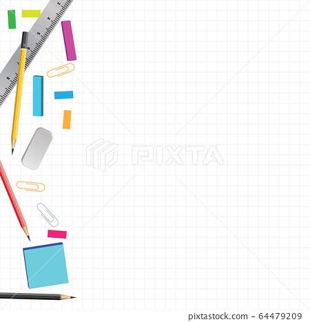 Back to school concept on white color background 64479209