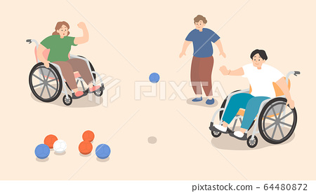 Men and women who enjoy Boccia 64480872