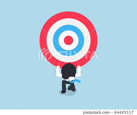 SD Business Man bearing a giant target on his back 64485517