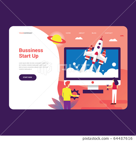Starup Landing Page for your bussiness 64487616