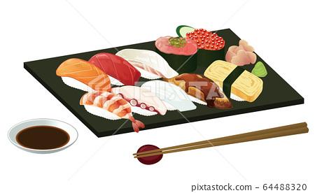 寿司例证 64488320