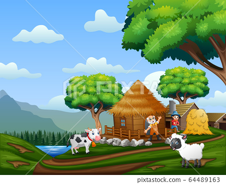 The farmers working in the farm 64489163