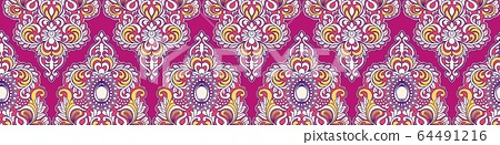 抽像美麗的複古矢量佩茲利圖案 64491216