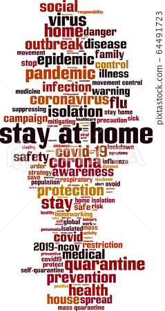 Stay at home word cloud 64491723