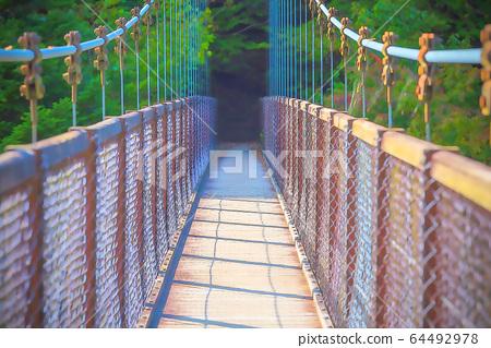 Retrospective suspension bridge 64492978