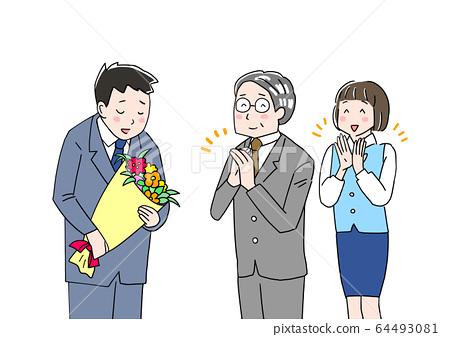 Personnel change bouquet 64493081