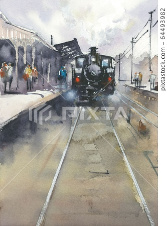 蒸汽機車 64493982