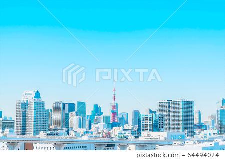 東京動畫風格的城市風光 64494024