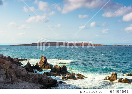 seascape with rocks and cliffs. beautiful scenery 64494641