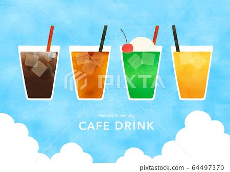 夏季咖啡廳冷飲 64497370