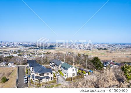 교외에서 바라 보는 거리 풍경 64500400