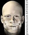 male figure dental scan 64500819