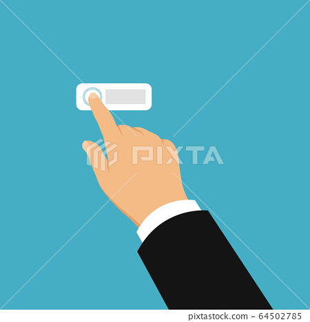 Flat design illustration of hand of salesman or 64502785