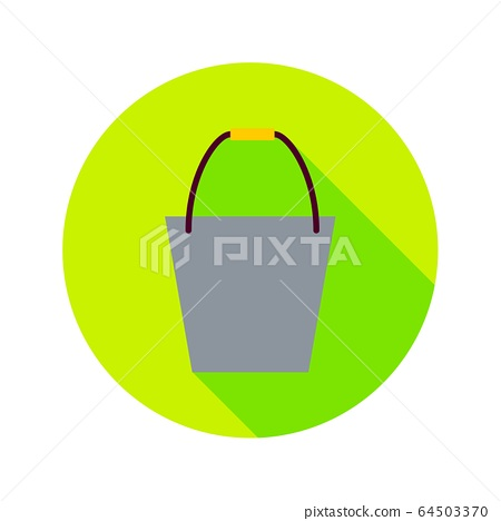 Flat Bucket Circle Icon 64503370