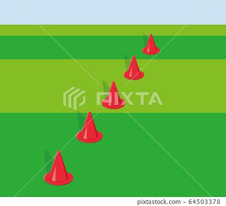 Cones on the ground 64503378
