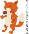cartoon red fox comic animal character 64504909