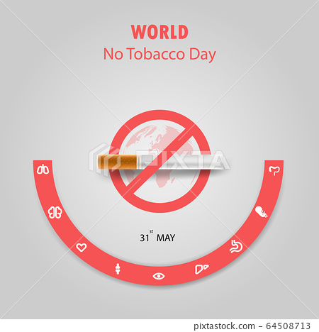 World No Tobacco Day infographic background 64508713
